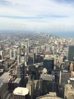 空,建物,タワー,都会,高層ビル,空中