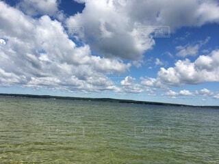 自然,風景,空,屋外,湖,ビーチ,雲,水面,くもり