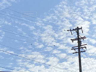 秋,屋外,うろこ雲,昼間,きれいな空