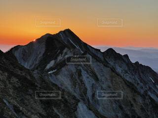 自然,風景,空,雲,夕暮れ,山,オレンジ,日の出