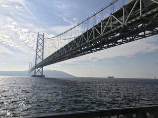 風景,空,建物,橋,屋外,雲,船,水面,明石海峡大橋