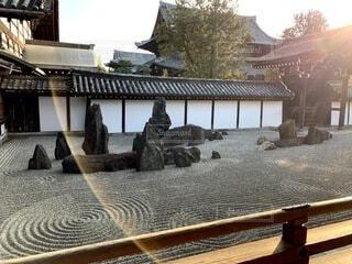 風景,建物,秋,夕日,屋外,京都,夕暮れ,散歩,夕方,景色,観光,岩,旅行,石,寺院,寺,歴史,建築,観光名所,東福寺,日本文化