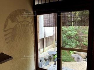 カフェ,屋内,京都,散歩,窓,景色,ドア,和風,日本文化