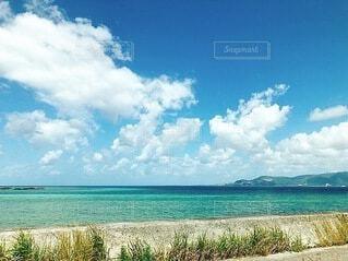 自然,風景,海,空,屋外,ビーチ,雲,水面,海岸,沖縄,草