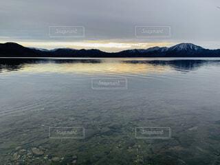 自然,風景,空,雪,屋外,湖,雲,水面,夕方,山
