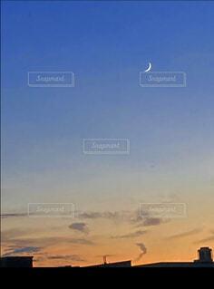 自然,風景,空,夜,屋外,太陽,雲,夕暮れ,月,お散歩