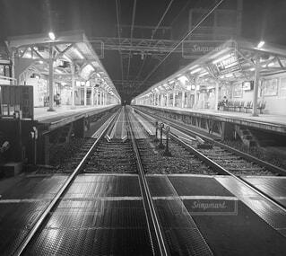 駅,トラック,鉄道,プラットフォーム,黒と白