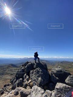 快晴のトムラウシ山頂から。の写真・画像素材[4927782]