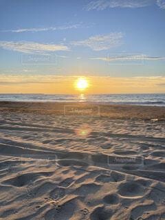 自然,海,空,屋外,太陽,ビーチ,雲,夕暮れ,水面,海岸,日の出