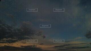 自然,風景,空,屋外,雲,夕暮れ,月,くもり,タイムラプス,夕方から夜