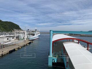 海,空,夏,屋外,湖,ボート,船,水面,旅行,港,福岡,離島,ドック