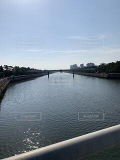 自然,風景,空,橋,屋外,雲,晴れ,散歩,川,水面,旅行,日中