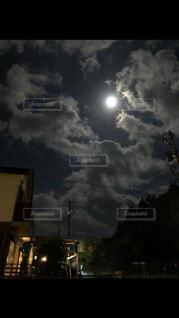 自然,風景,空,夜,屋外,雲,月