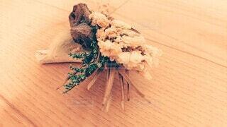 花,木,白,花束,枝,葉,レトロ,木目,おしゃれ