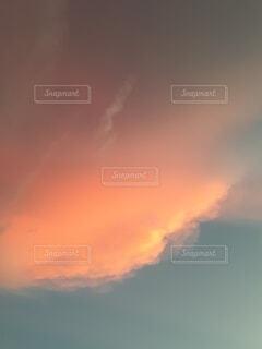 自然,空,雲,夕焼け
