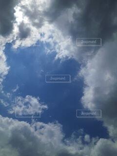 空,屋外,雲,青,飛行機,飛ぶ,昼間,くもり