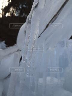 自然,雪,水面,冷たい,つらら,冷凍