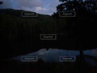 自然,風景,空,屋外,湖,雲,水面,山,反射,樹木
