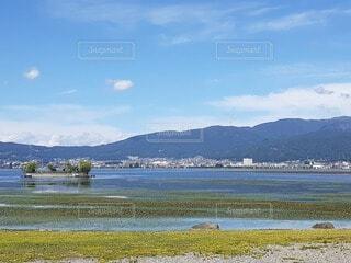 自然,風景,空,屋外,湖,ビーチ,雲,ボート,船,水面,海岸,山