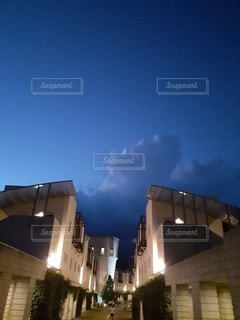 空,建物,雲,高層ビル