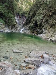 自然,屋外,水面,岩