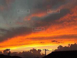 空,屋外,太陽,雲,夕暮れ,日の出,設定