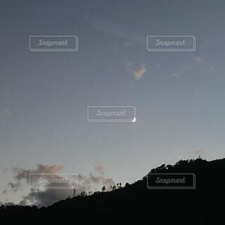 自然,風景,空,屋外,雲,山,月