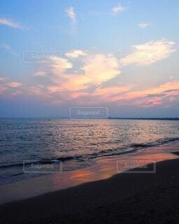自然,風景,海,空,屋外,湖,太陽,ビーチ,雲,夕暮れ,水面,海岸,グラデーション