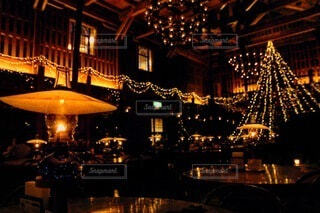 カフェ,建物,夜,屋外,ランタン,北海道,家,イルミネーション,都会,旅行,クリスマス,小樽,明るい,クリスマス ツリー