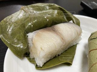食べ物,料理,寿司,魚介類,サバ,郷土料理,柿の葉,酢飯