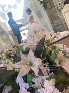 花,花束,結婚式,チャペル