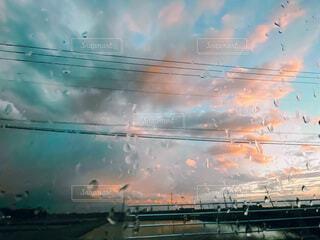 空,雲,船,水面