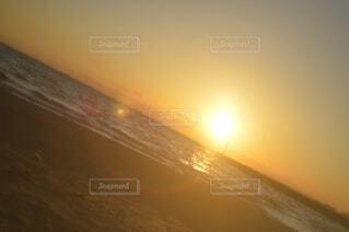 自然,海,空,屋外,太陽,ビーチ,夕暮れ,水面,霧,日の出