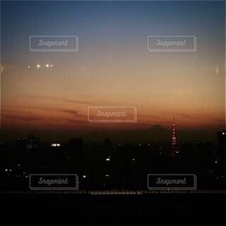 空,屋外,雲,夕暮れ,タワー,高層ビル