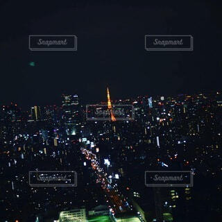 空,夜,屋外,都会,高層ビル