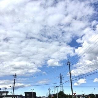 空,雲,電線路
