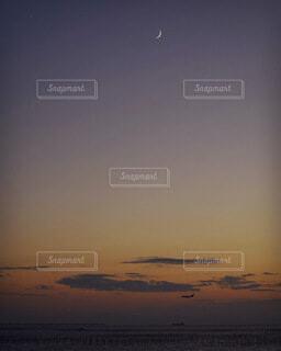 自然,風景,空,屋外,雲,夕暮れ,月