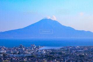 自然,風景,海,空,屋外,雲,青空,山,桜島,姶良,姶良市