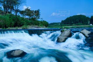 自然,風景,空,屋外,青空,水,波,川,水面,滝,樹木,曽木の滝