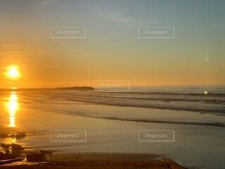 自然,風景,海,空,屋外,太陽,砂,ビーチ,雲,夕暮れ,水面,日の出