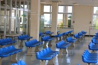 青,窓,椅子,テーブル