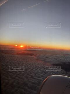 空,屋外,太陽,雲,夕暮れ
