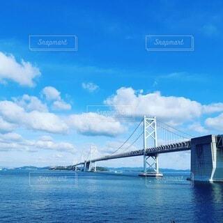 風景,海,空,橋,屋外,雲,青空,晴天,水面,香川県,瀬戸大橋,日中