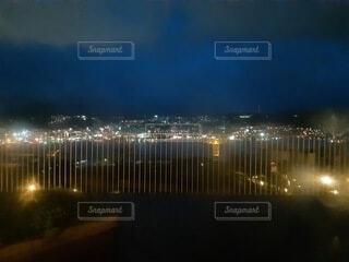 風景,空,夜,夜景,屋外,ライト,長崎県