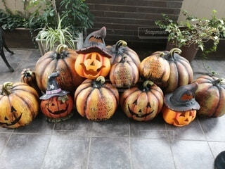 食べ物,秋,屋外,果物,野菜,かぼちゃ,地面,ひょうたん,草木,スカッシュ,ハロウィーン,カボチャ,自然食品,トリック・オア・トリート,セイヨウカボチャ,地元の料理,鬼火