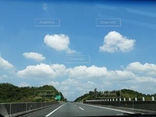 風景,空,屋外,雲,道路,樹木,道