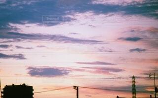 自然,風景,空,屋外,太陽,雲,夕暮れ,日の出,明るい,フィルム