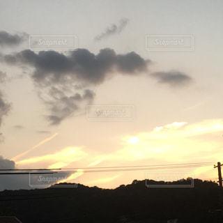 アウトドア,自撮り,雲,夕焼け,散歩,オリジナル,エンゼルハート