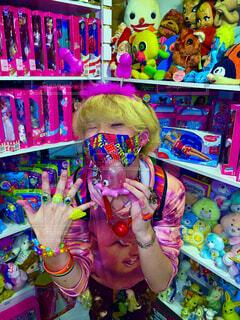 ピンク,人物,人,おもちゃ,渋谷,ギャル,IKEA,グッズ,漫画,プリクラ,おもちゃや,デコラ,ぎゃる,Y2K,マンバギャル