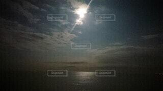 自然,空,屋外,雲,月